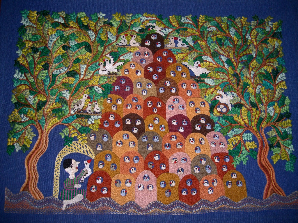 Broderie : les pigeonniers