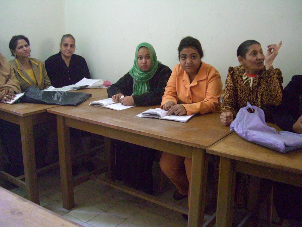 Cours d'alphabétisation à Akhmim (Sohag)