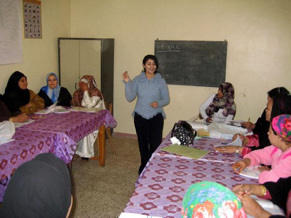 Cours d'alphabétisation à El Hammasse (Sohag)