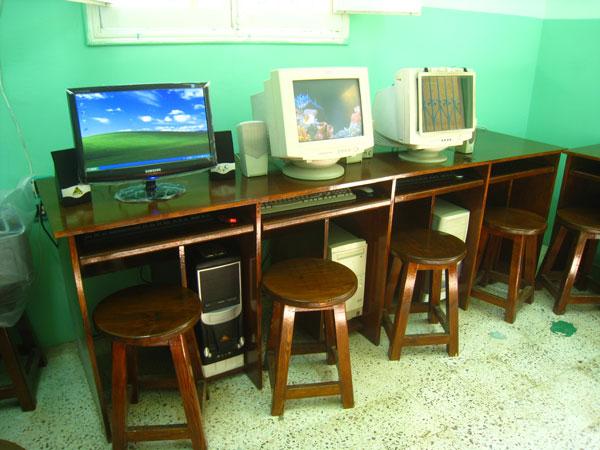 La nouvelle salle informatique