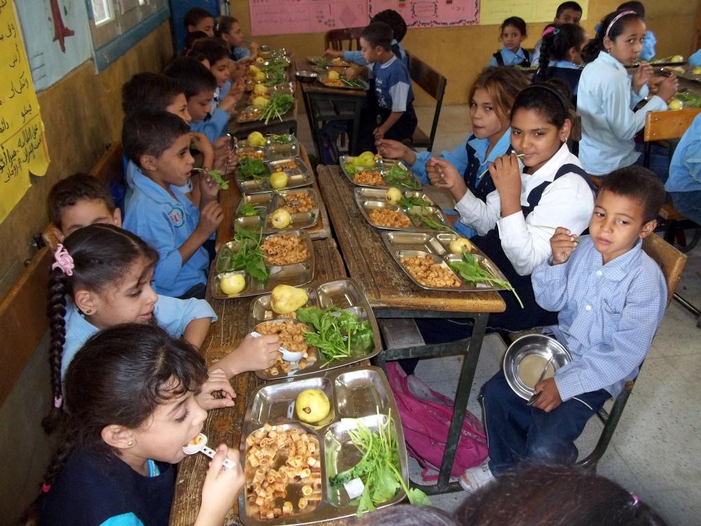 Repas servi à l'école
